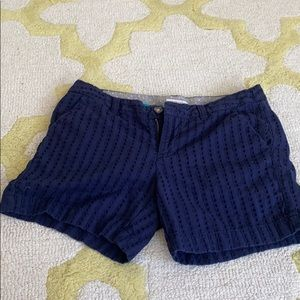 Navy Patterned Shorts